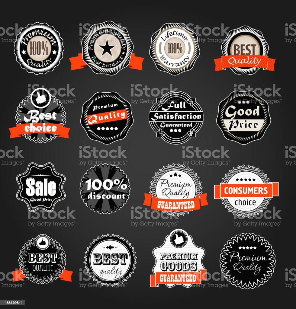 Shopping labels collection vector art illustration