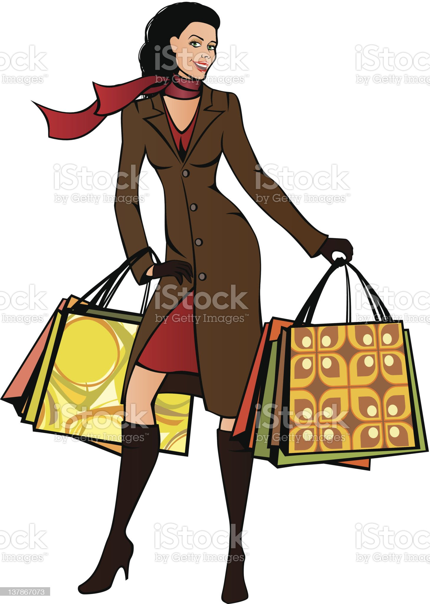Shopping lady royalty-free stock vector art
