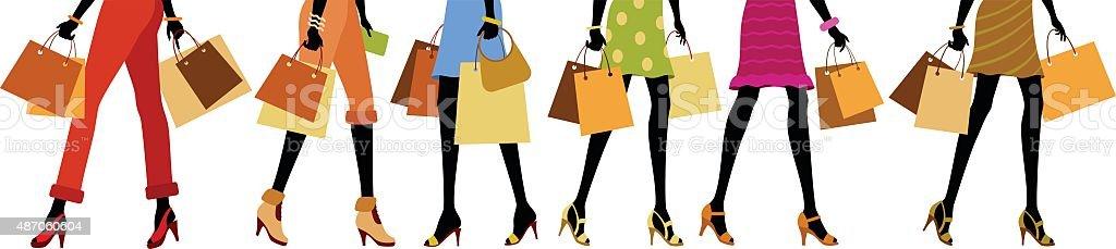 Shopping Legs vector art illustration