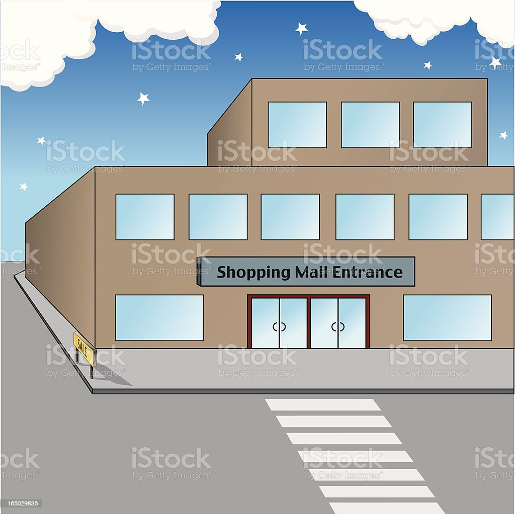 Shopping Mall royalty-free stock vector art