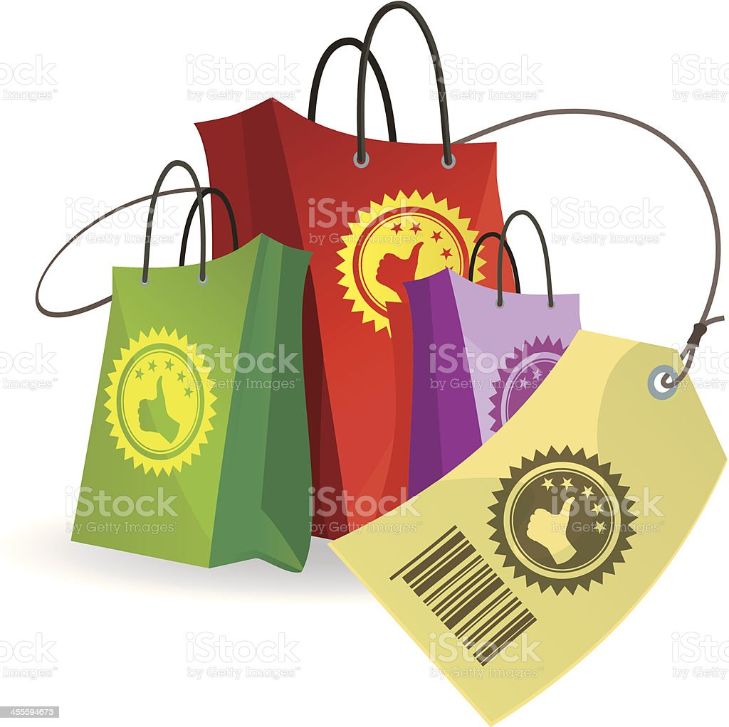Shopping Packages (Best choice) royalty-free stock vector art