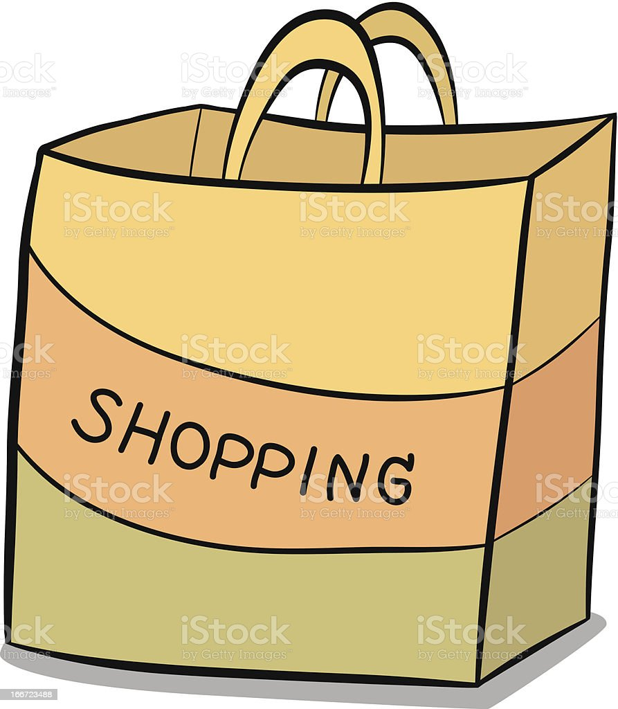 shopping paper bag royalty-free stock vector art