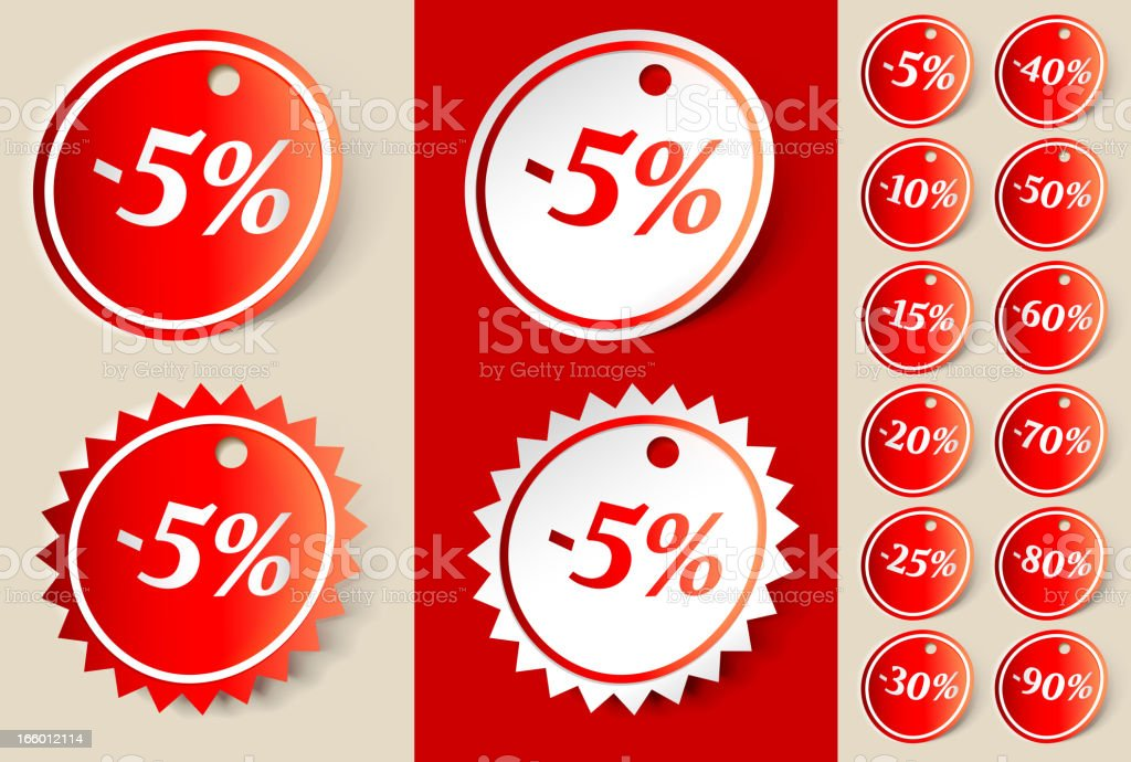 Shopping Sale Sign Ribbon Tag royalty-free stock vector art