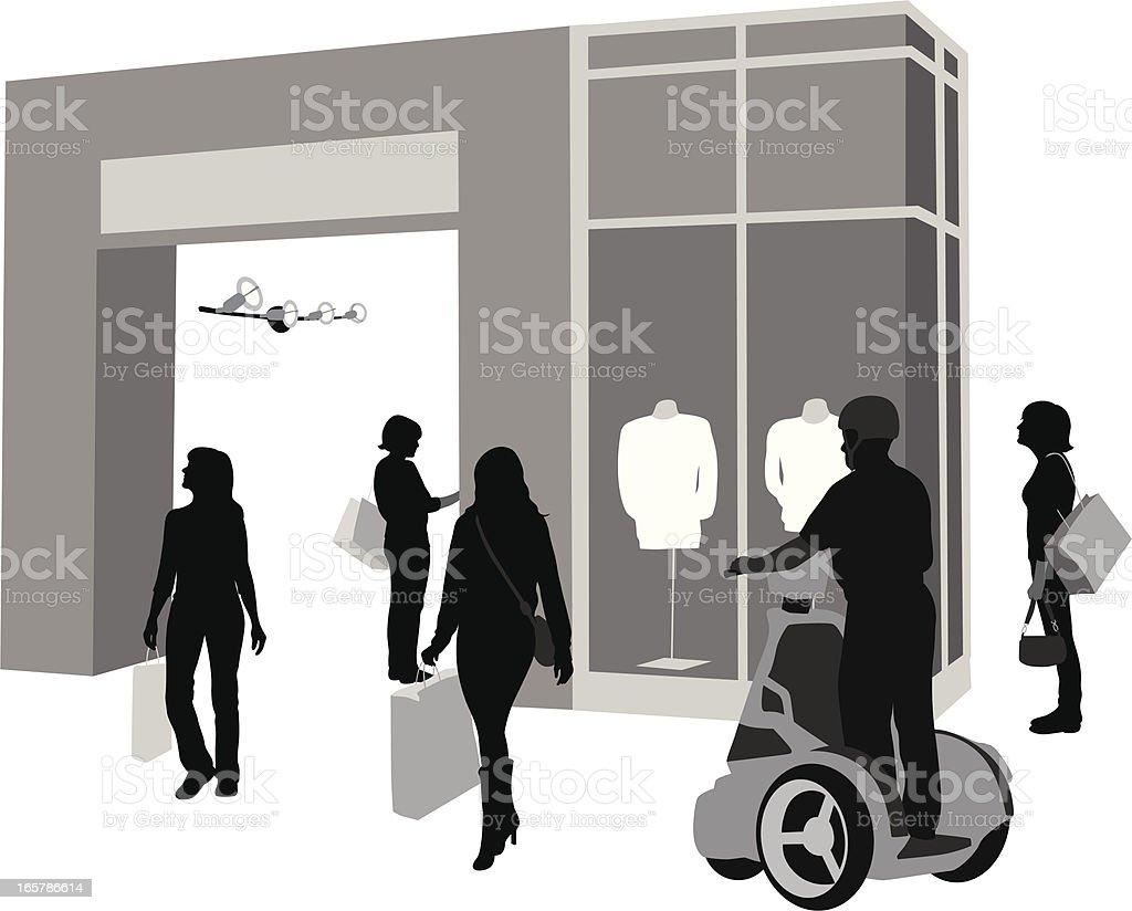 Shopping Security Vector Silhouette vector art illustration
