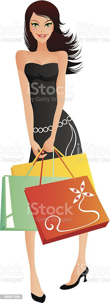 Shopping series lady 1 royalty-free stock vector art