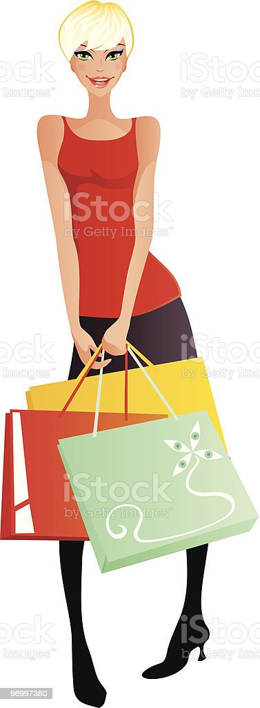 Shopping series lady 2 royalty-free stock vector art