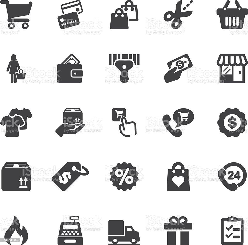 Shopping Silhouette icons | EPS10 vector art illustration