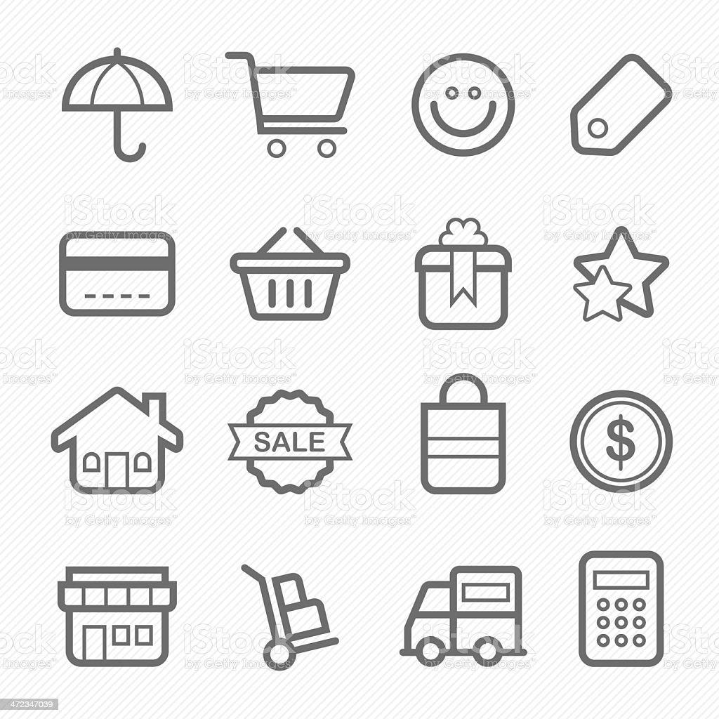 shopping symbol line icon royalty-free stock vector art