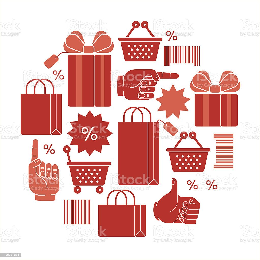 Shopping symbols royalty-free stock vector art