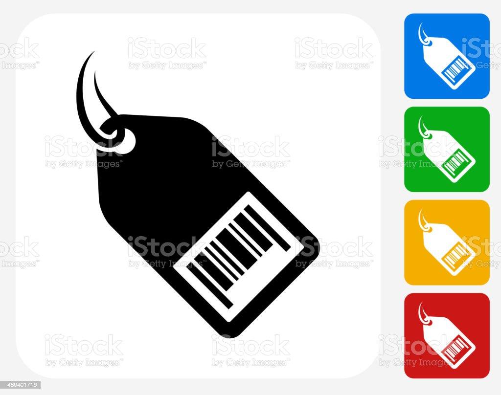 Shopping Tag Icon Flat Graphic Design vector art illustration