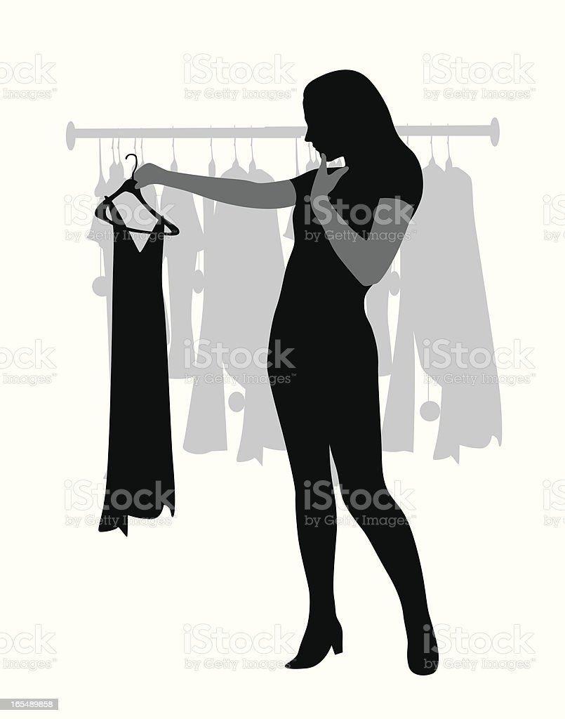 Shopping Thinking Vector Silhouette royalty-free stock vector art