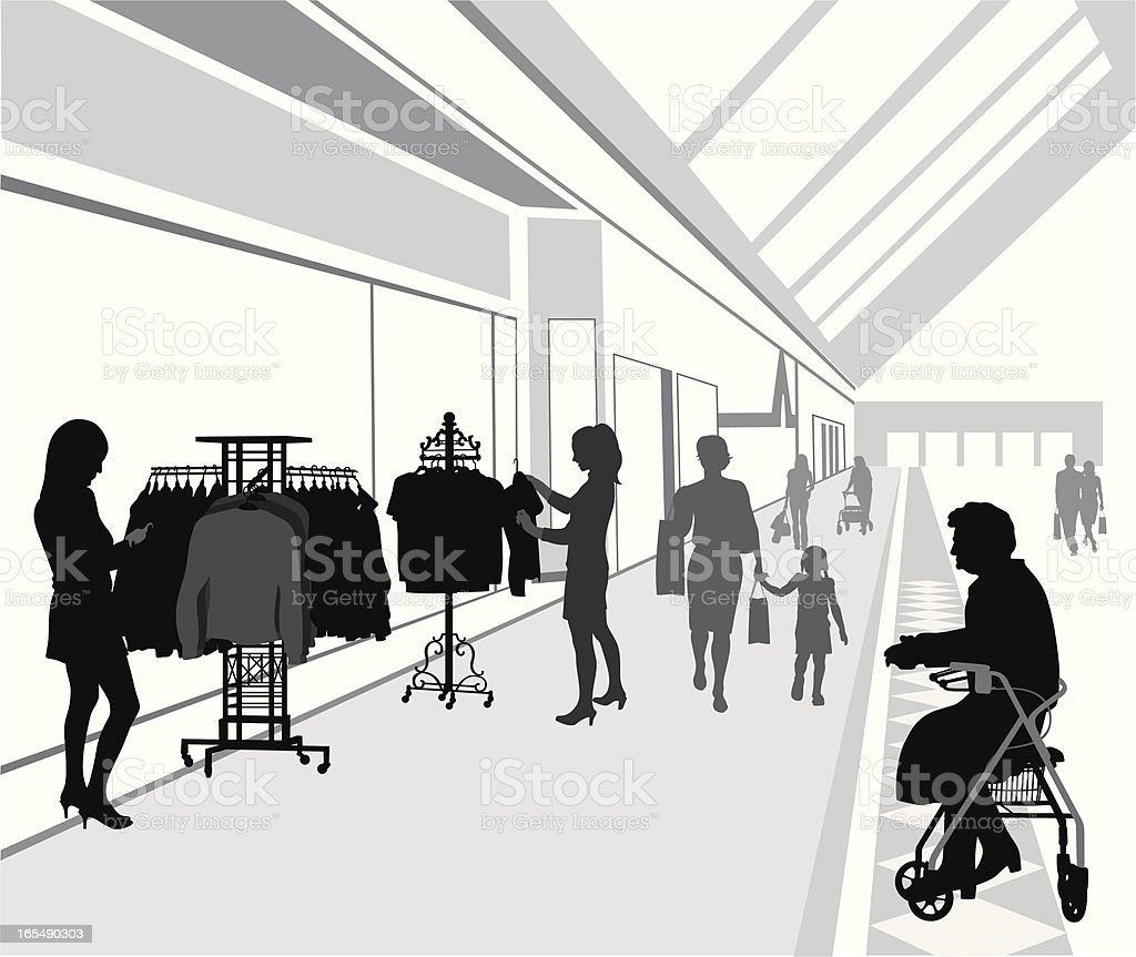 Shopping Thoughts Vector Silhouette vector art illustration