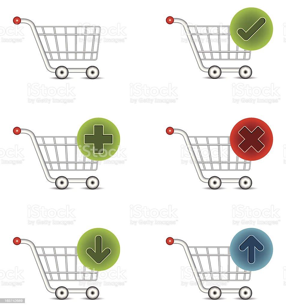 Shopping Trolleys vector art illustration