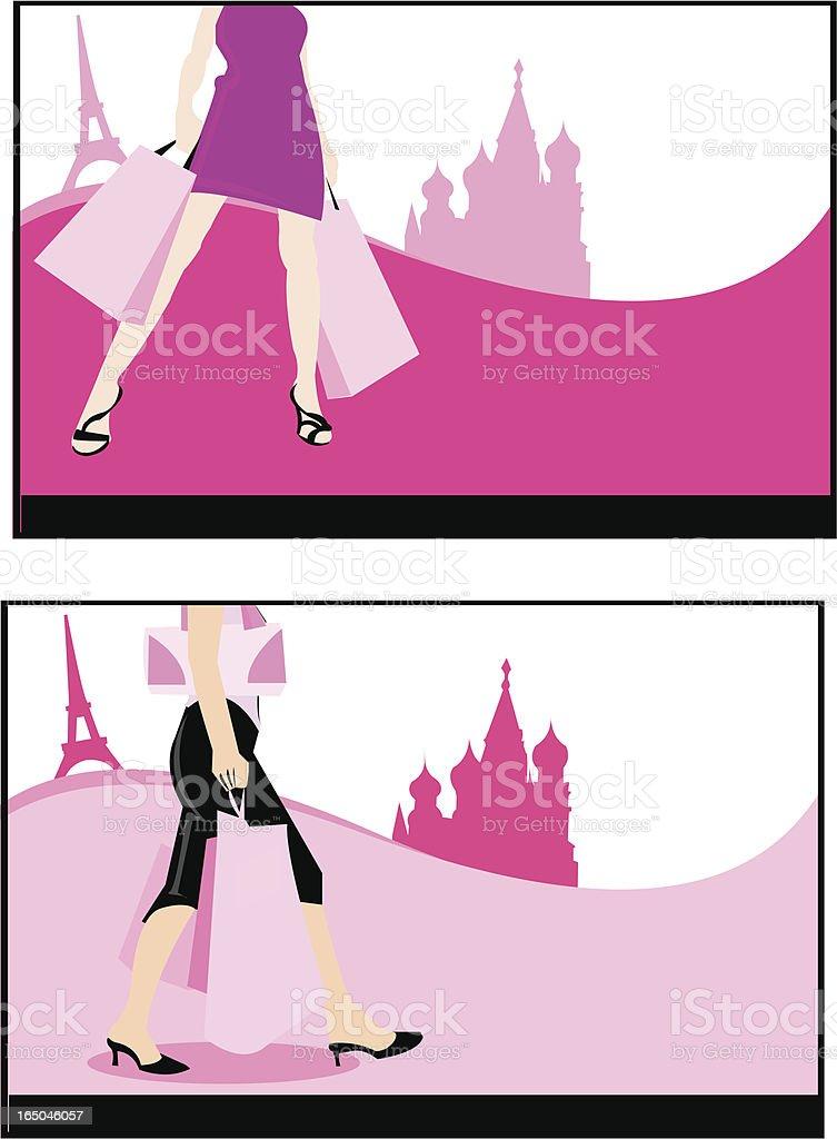 shopping royalty-free stock vector art
