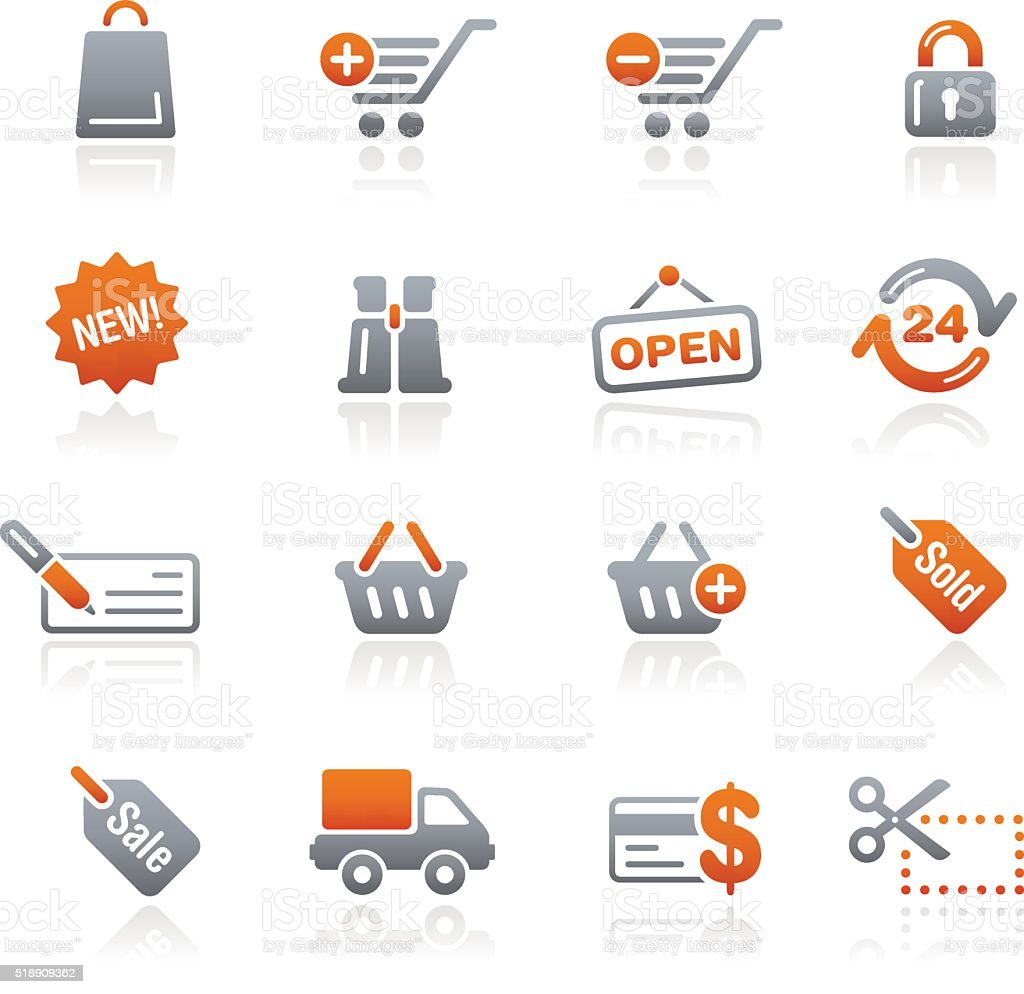 Shopping Web Icons - Graphite Series vector art illustration