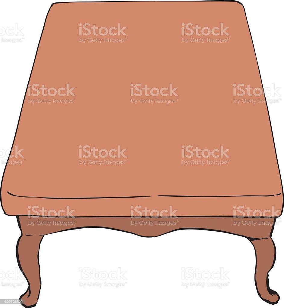 Short antique table illustration vector art illustration