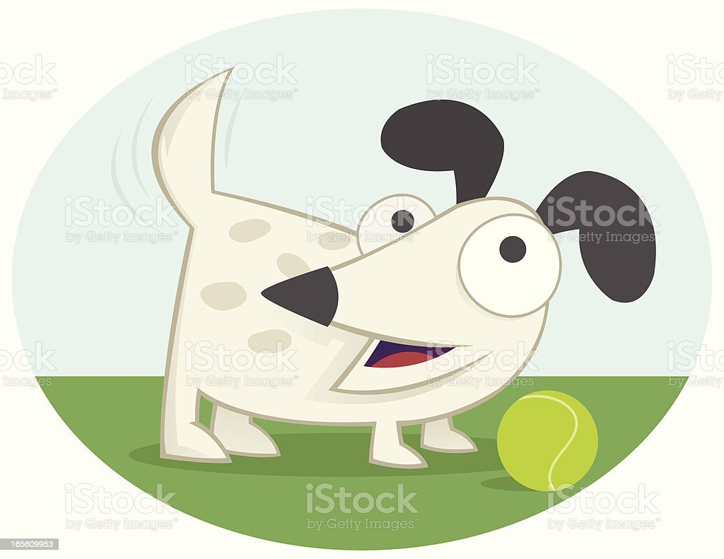 Short Dog royalty-free stock vector art