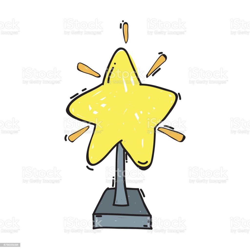 short film with star prize tool vector art illustration