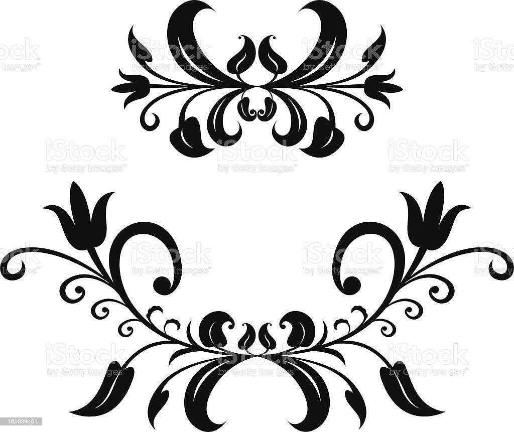 short scroll ornaments royalty-free stock vector art