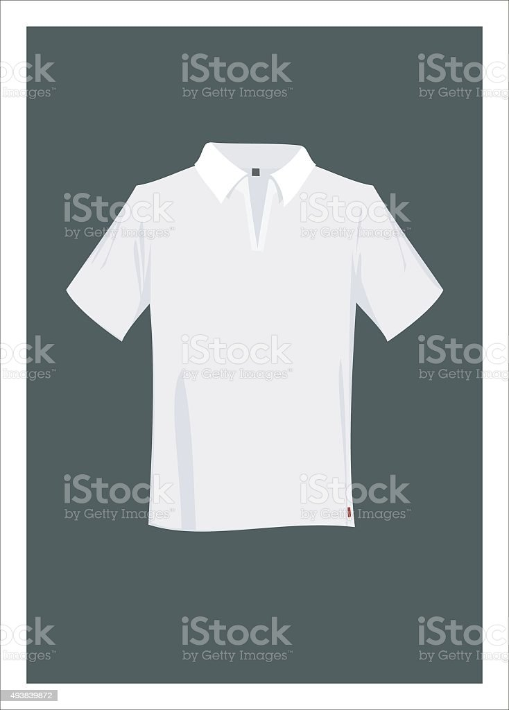 short sleeve polo shirt vector art illustration