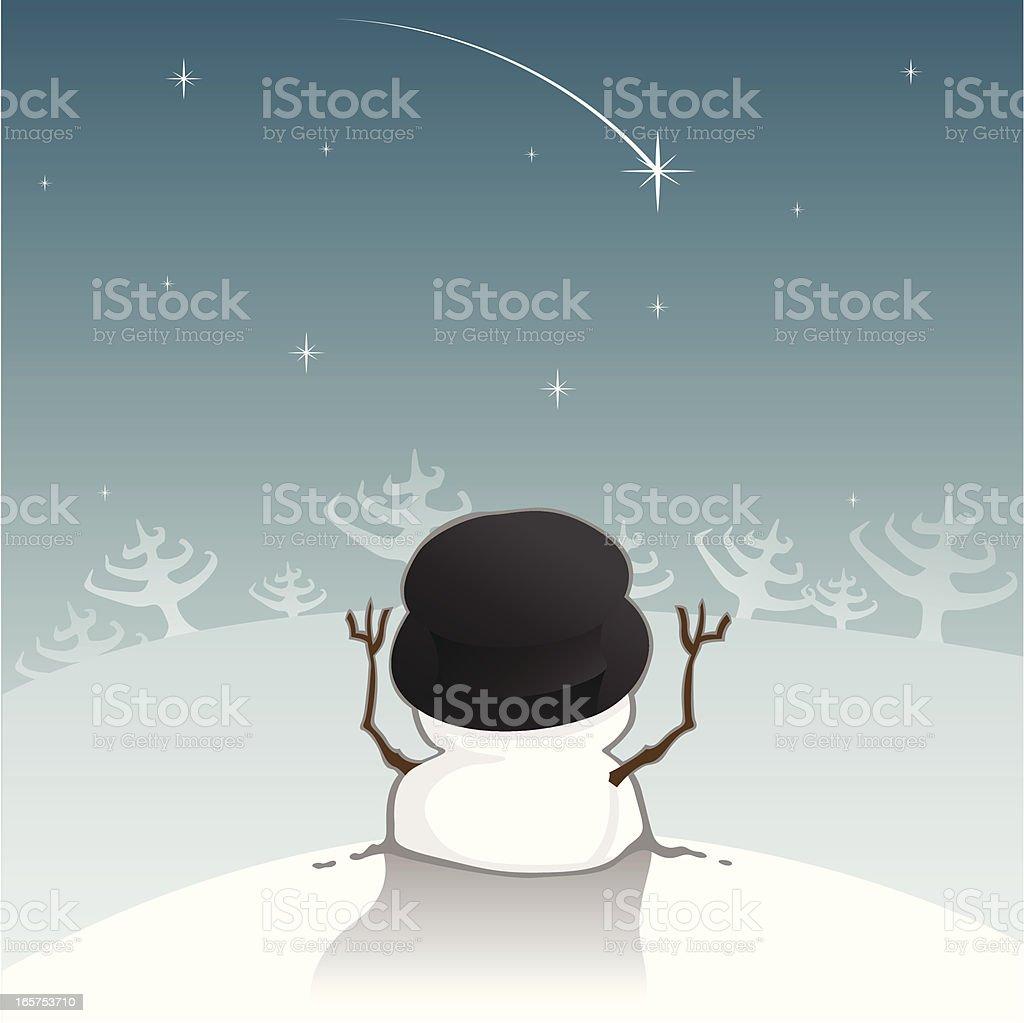 Short Snowman vector art illustration