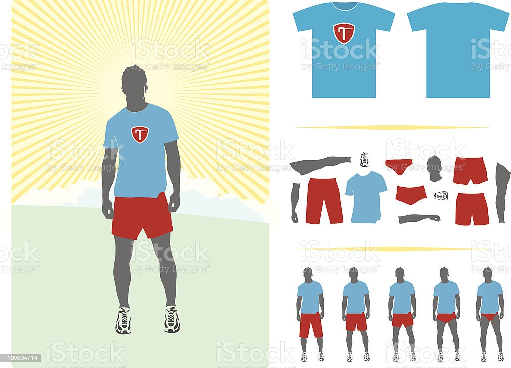 Shorts and parts vector art illustration