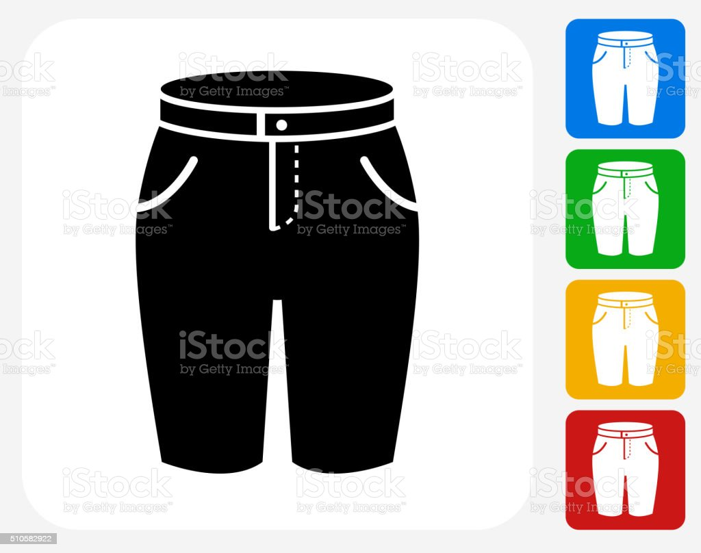 Shorts Icon Flat Graphic Design vector art illustration