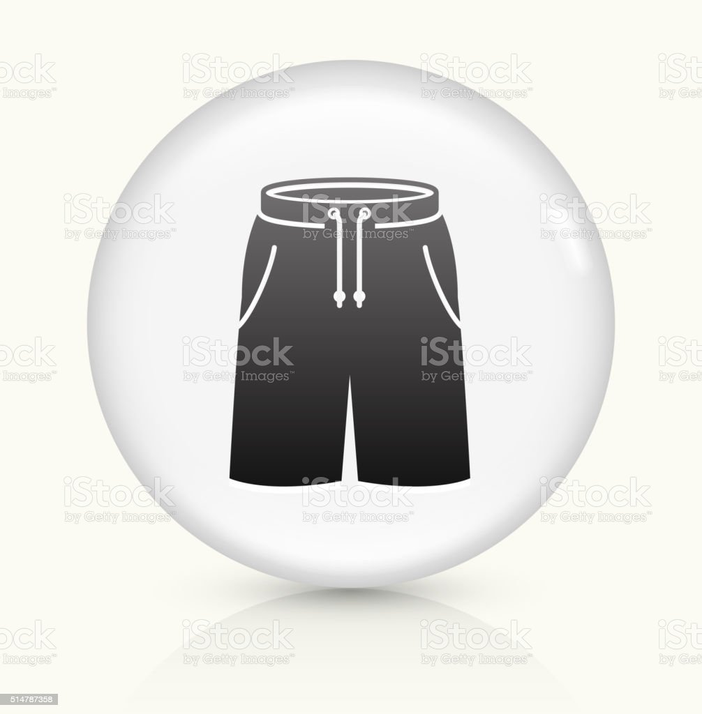 Shorts icon on white round vector button vector art illustration