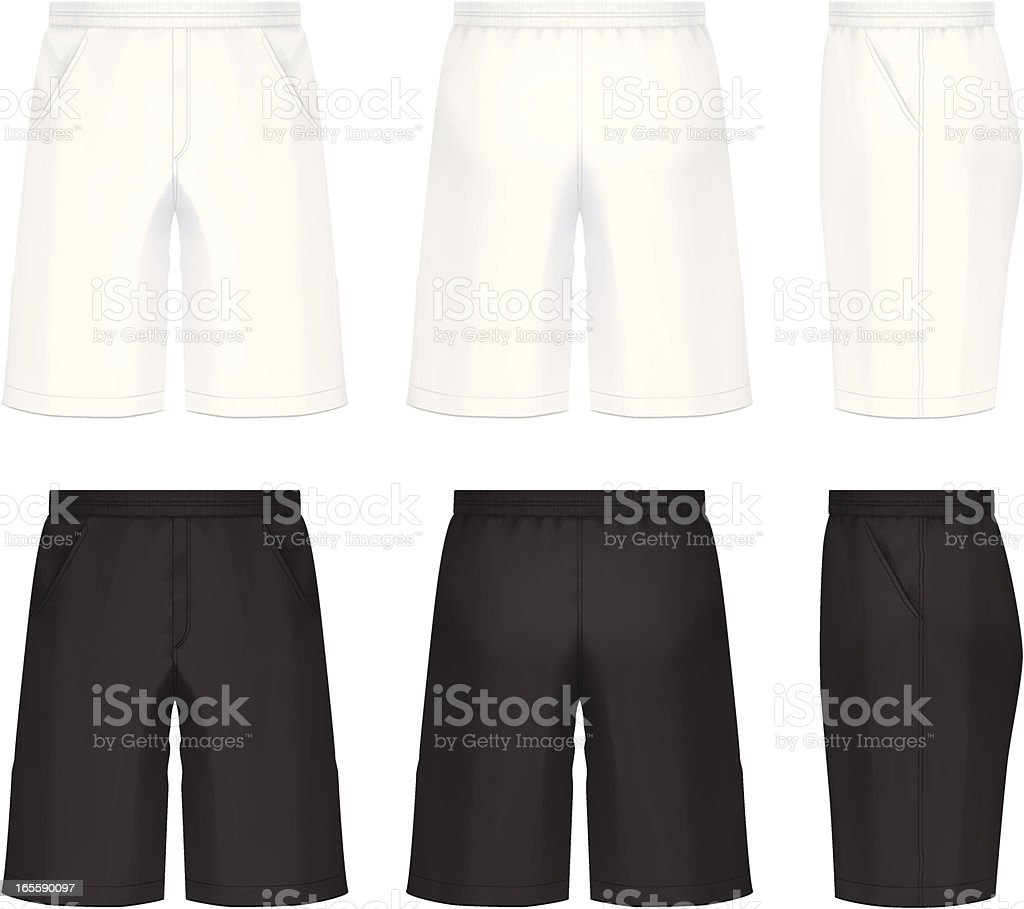 Shorts vector art illustration