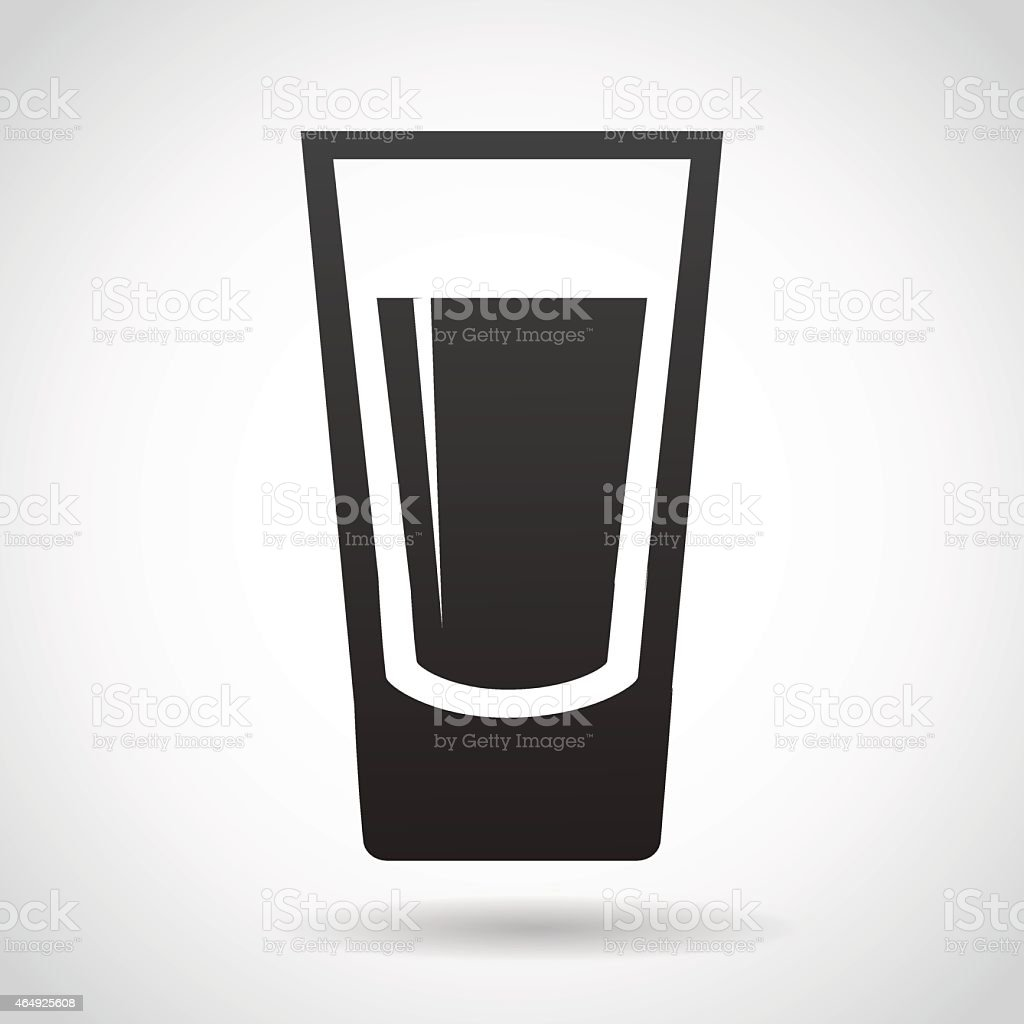 Shot glass icon isolated on white background. vector art illustration