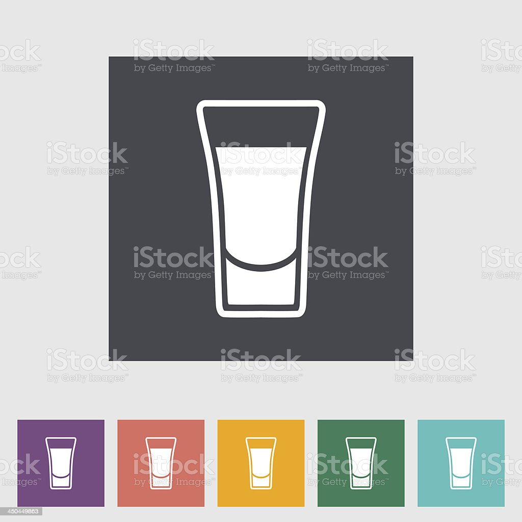 Shot glass symbol in various colors vector art illustration