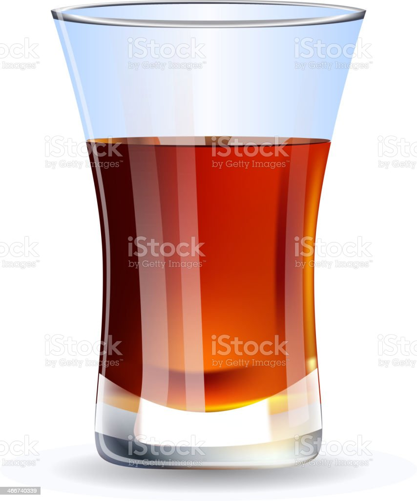 Shot of whiskey. Vector vector art illustration