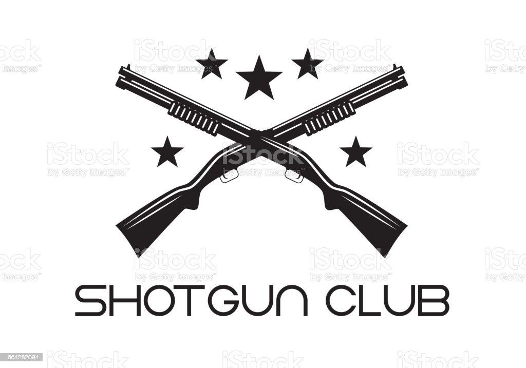 shotgun club vector art illustration