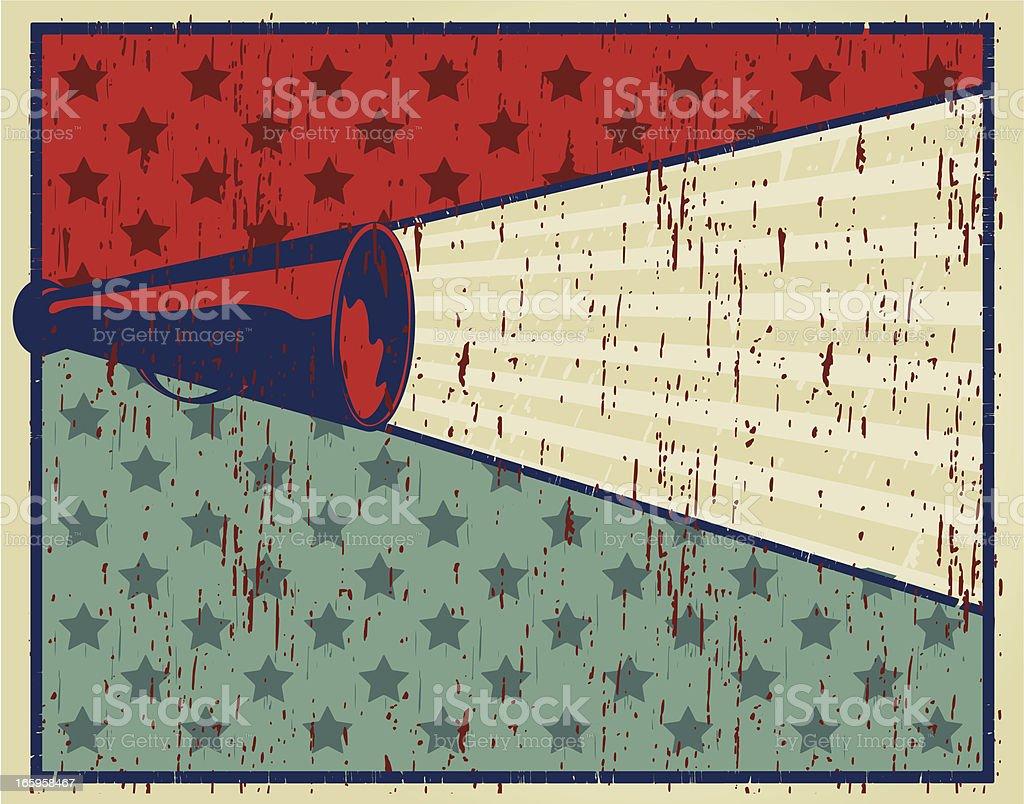shout poster vector art illustration