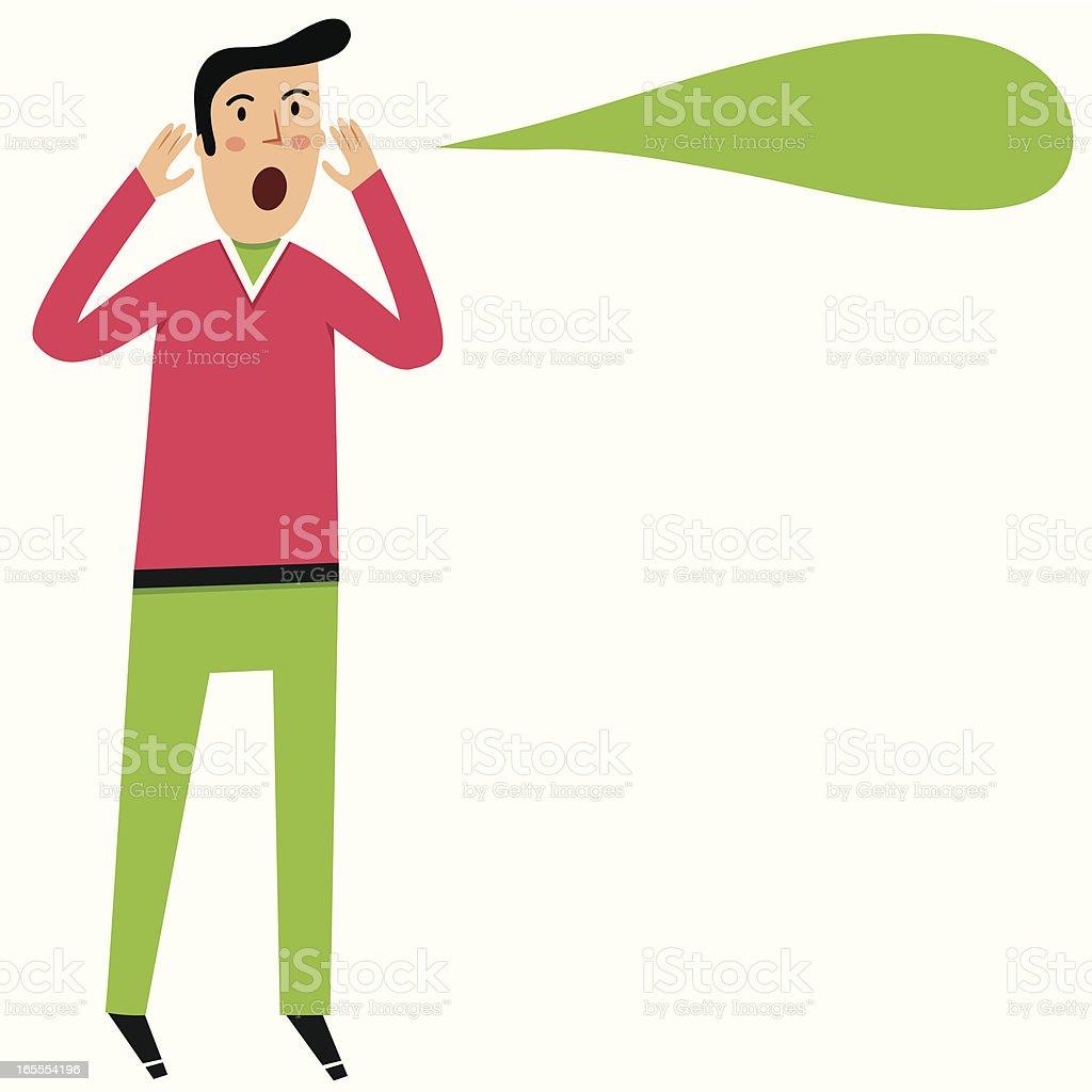 Shouter vector art illustration