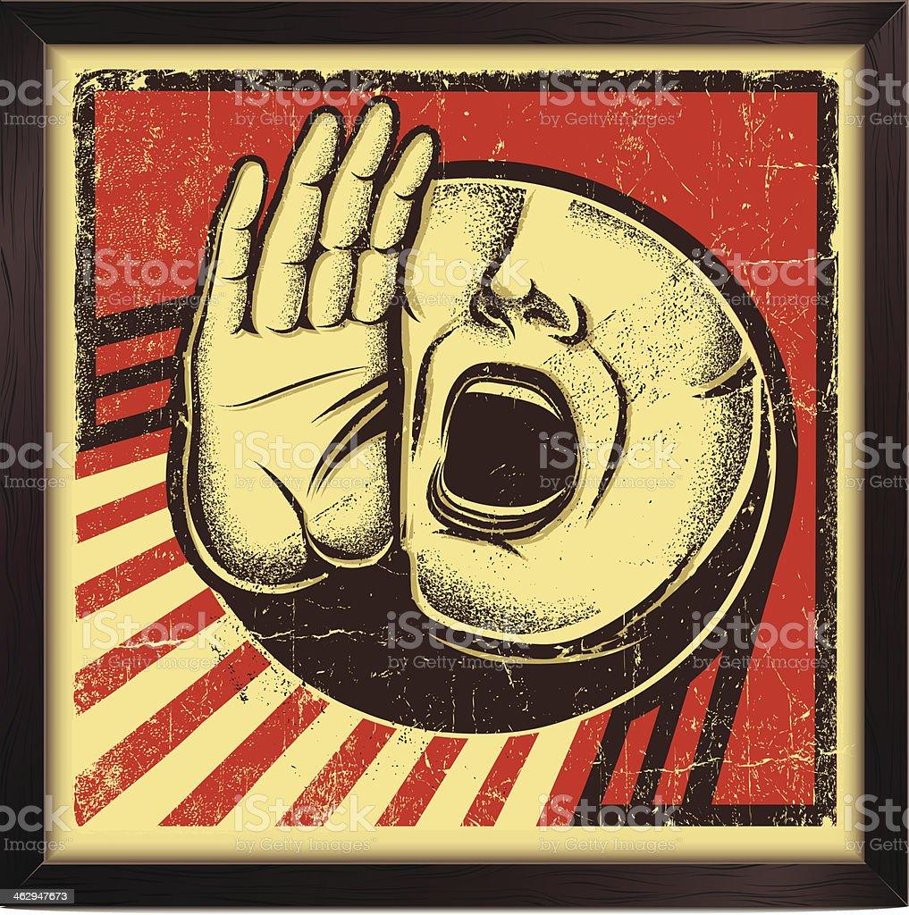 Shouting Person Sign vector art illustration