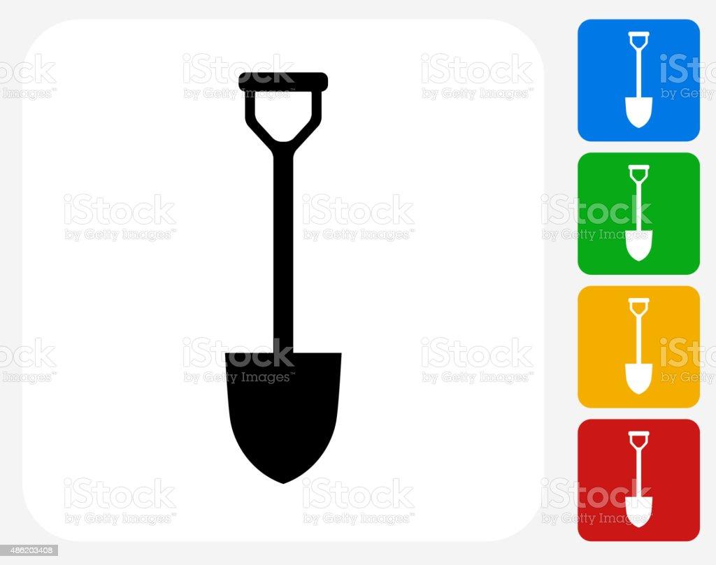 Shovel Icon Flat Graphic Design vector art illustration