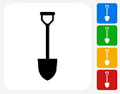 Shovel Icon Flat Graphic Design