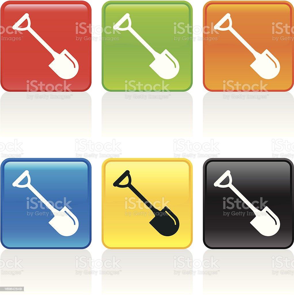 Shovel Icon royalty-free stock vector art