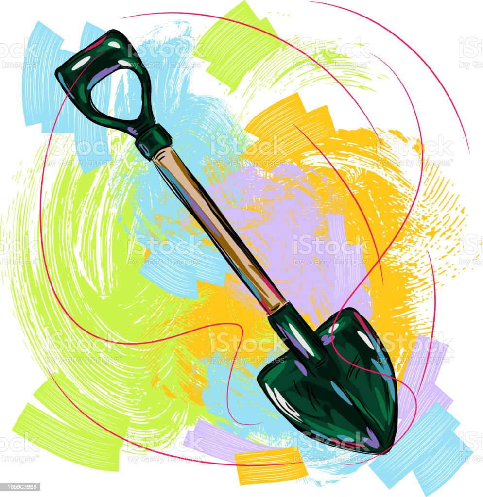 Shovel vector art illustration