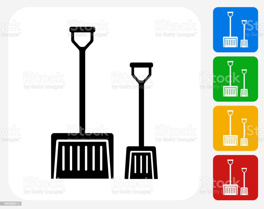 Shovels Icon Flat Graphic Design vector art illustration