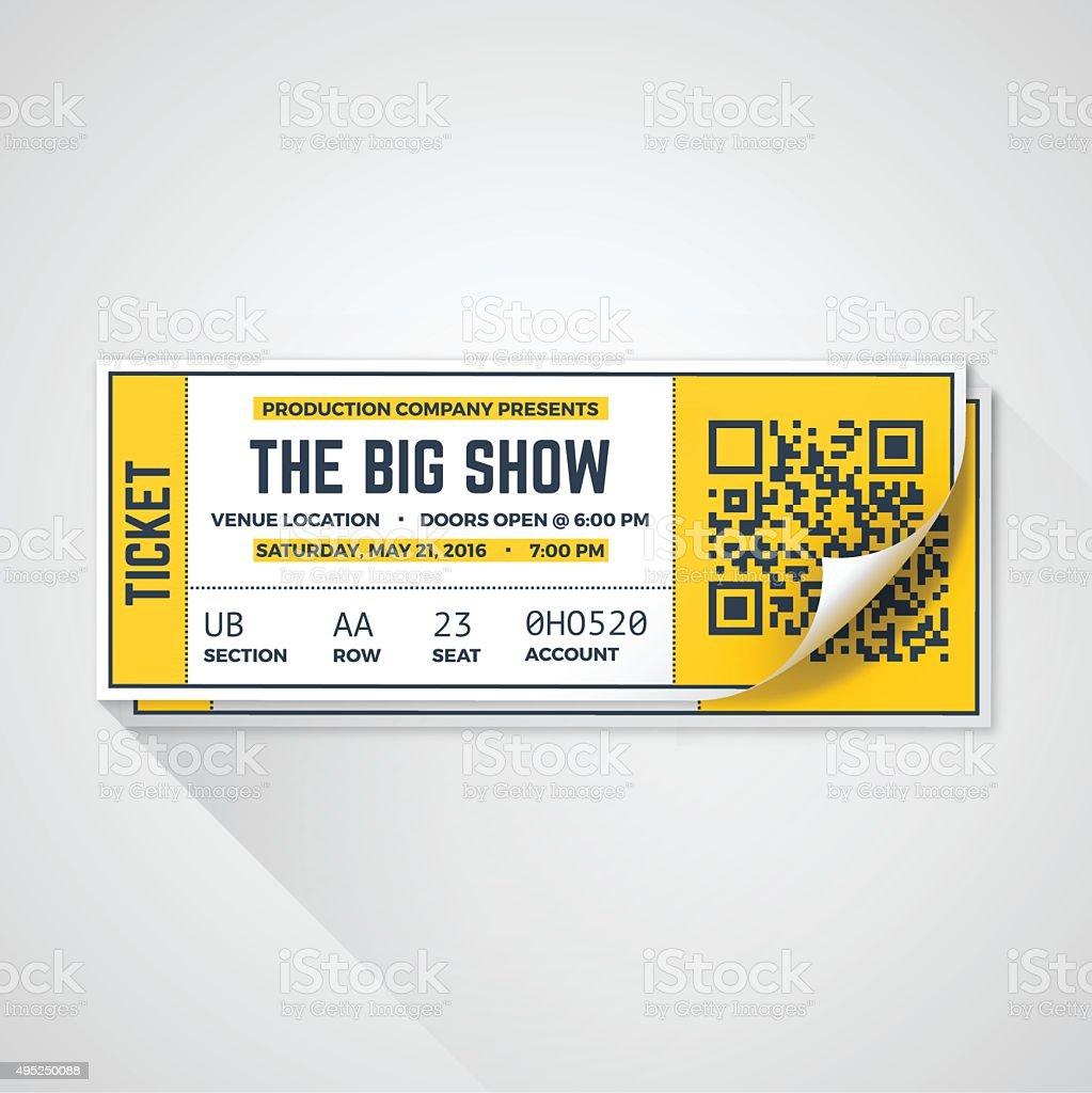 Show Tickets vector art illustration