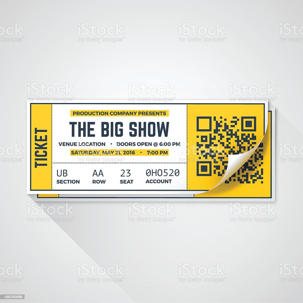 Show Tickets vector art illustration
