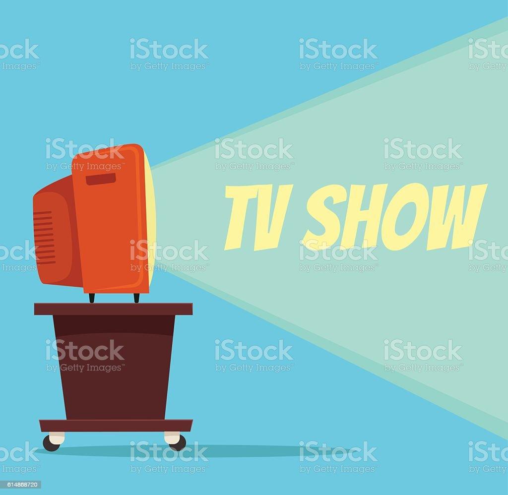TV show. Vector flat cartoon illustration vector art illustration
