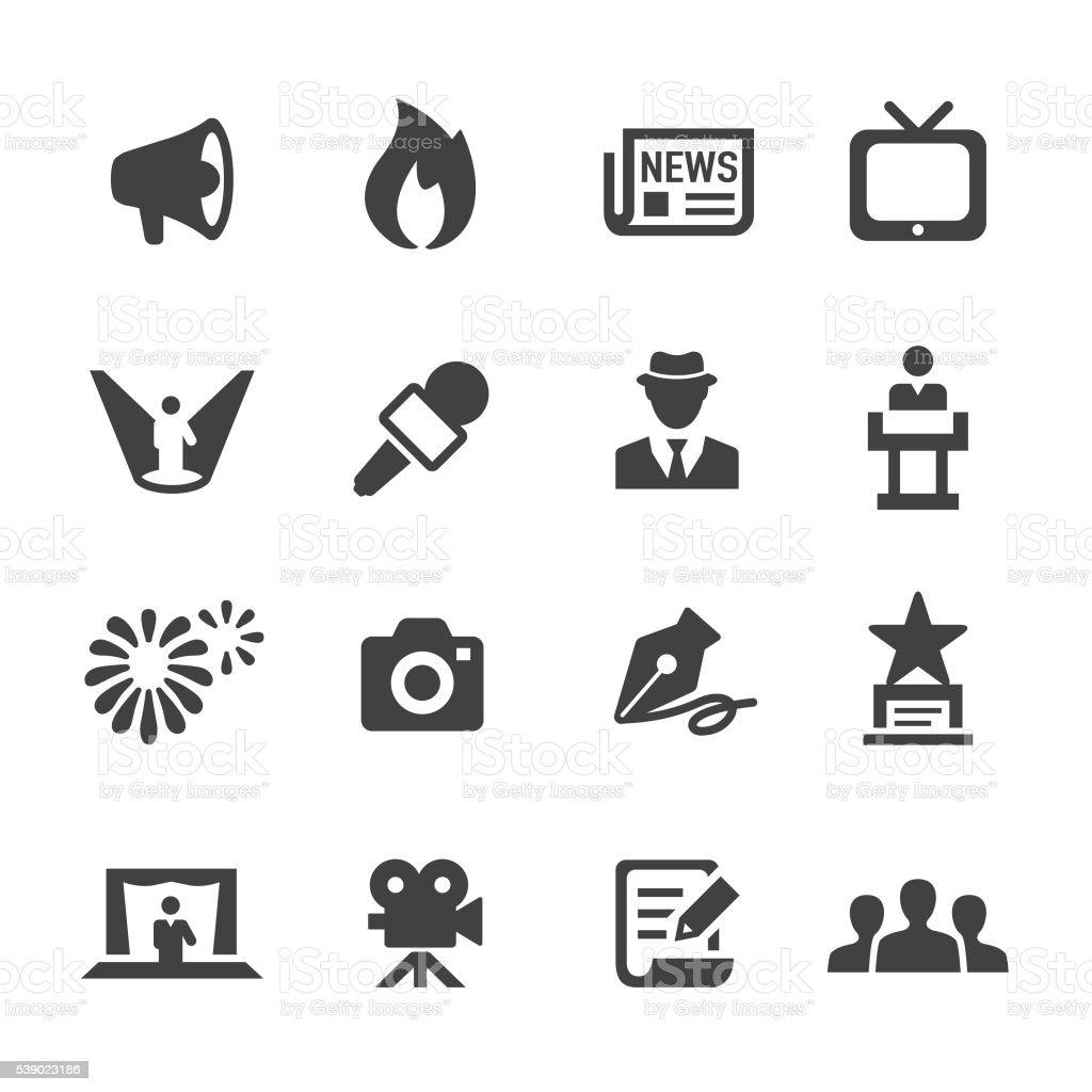Showbiz and Entertainment Icons - Acme Series vector art illustration