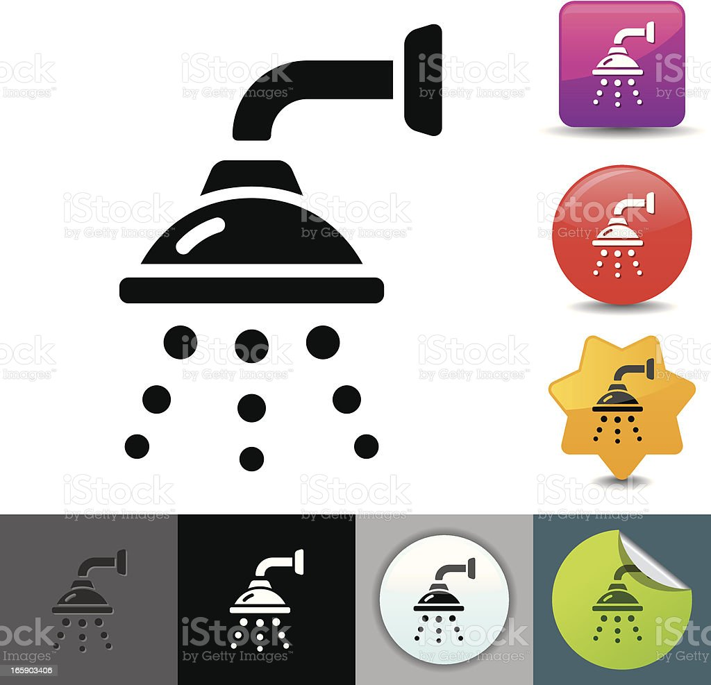 Shower icon | solicosi series vector art illustration