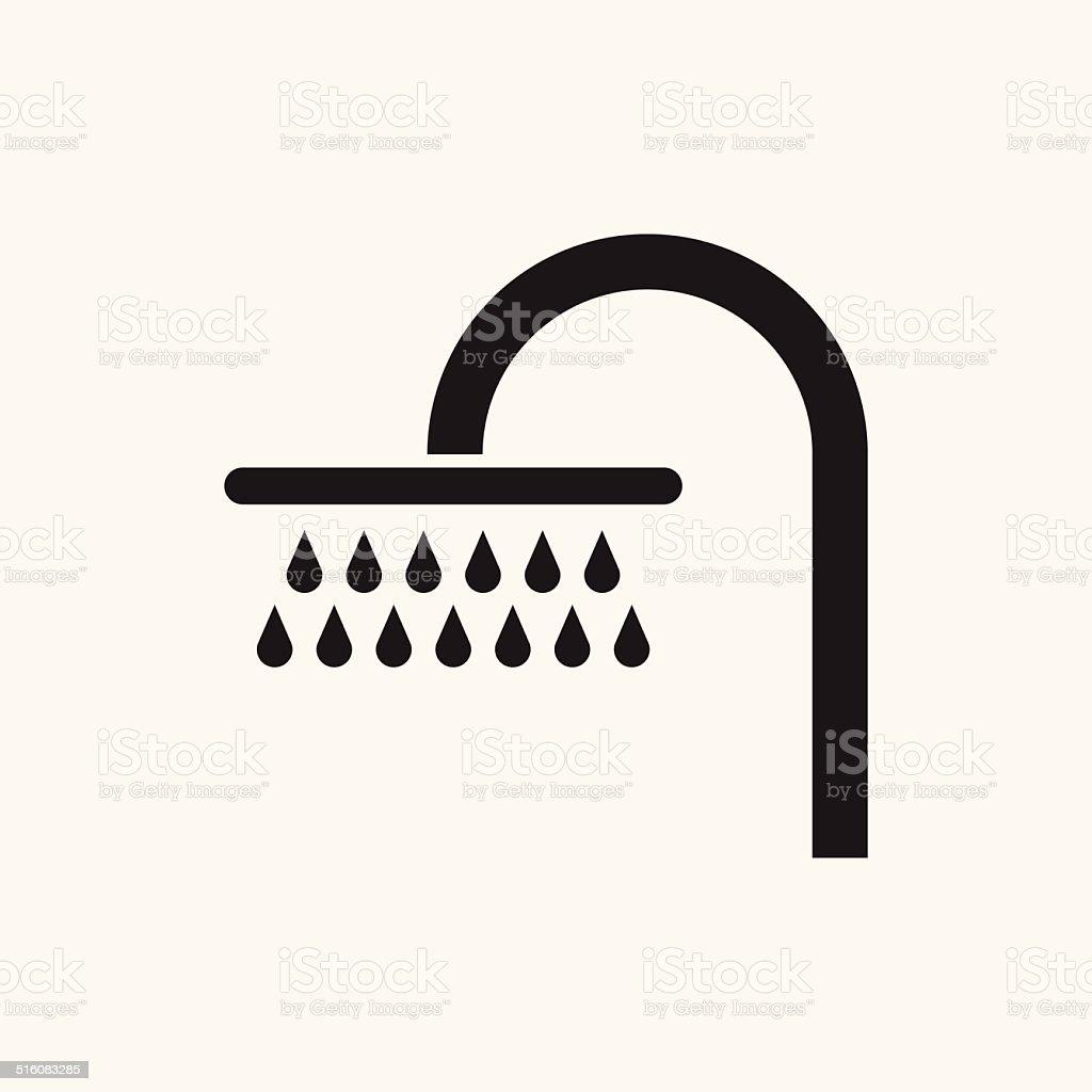 Shower Icon vector art illustration