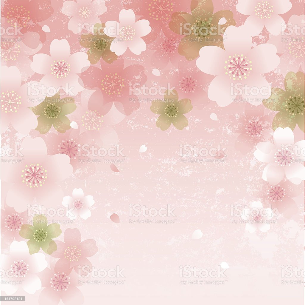 Shower of Cherry Blossoms royalty-free stock vector art