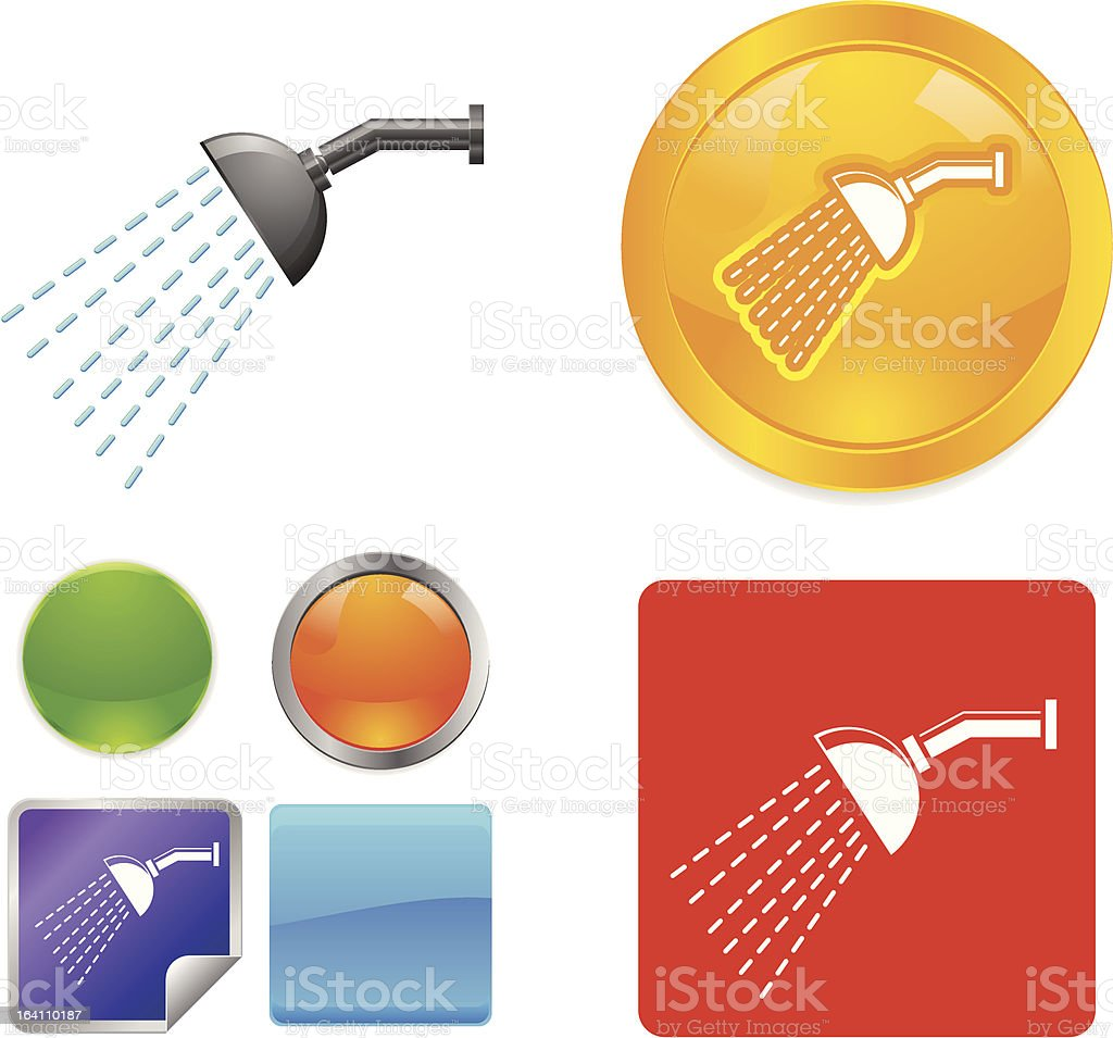 Shower vector icons royalty-free stock vector art