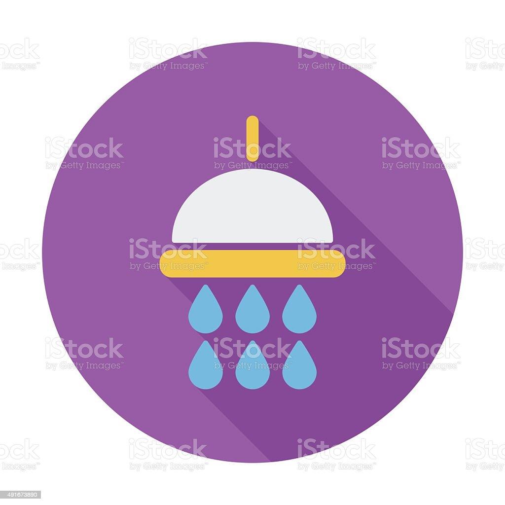 Shower vector art illustration